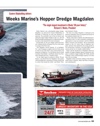 MR Feb-18#65 Eastern Shipbuilding delivers Weeks Marine's Hopper Dredge