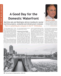 MR Apr-18#10 A Good Day for the  Domestic Waterfront About the Author Jos