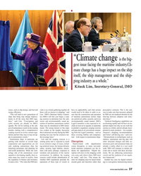 """MR May-18#37 """"Climate change is the big- gest issue facing the maritime"""