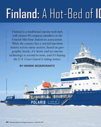 MR Aug-18#62 Finland is a traditional marine tech hub,  with almost 90