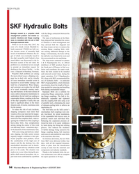MR Aug-18#94 TECH FILES SKF Hydraulic Bolts Damage caused by a propeller
