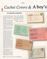 MR Sep-18#22  boy's f Cachet Covers & BY EDWARD LUNDQUIST  Like many boys