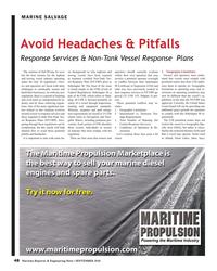 MR Sep-18#48 MARINE SALVAGE Avoid Headaches & Pitfalls Response Services