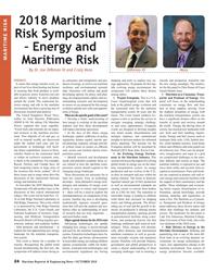 MR Oct-18#24 2018 Maritime  Risk Symposium  – Energy and  MARITIME