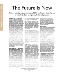MR Oct-18#48 The Future is Now With new leadership in place, Gene