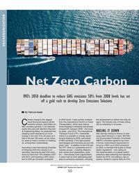 MR Oct-18#50 DECARBONIZATION © Stockninja/Adobe Stock Net Zero Carbon IMO