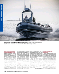 MR Nov-18#102 RIBS & PATROL CRAFT Rosborough Boats' Rough Water Combatant:
