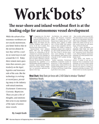 MR Nov-18#34 Work'bots' T  e near-shore and inland workboat f  eet is