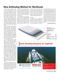 MR Nov-18#81 New Antifouling Method for Workboats Fouling has been a