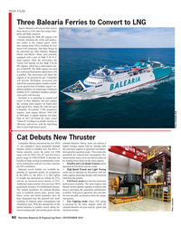 MR Nov-18#82   from diesel to LNG dual fuel using Cater- pillar and MaK