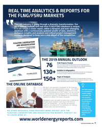 MR Dec-18#7 REAL TIME ANALYTICS & REPORTS FOR  THE FLNG/FSRU MARKETS