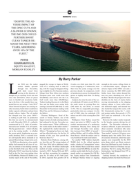 MR Jan-19#21  IMO 2020 COULD  FURTHER BOOST  CLEAN TANKER DE- MAND THE NEXT