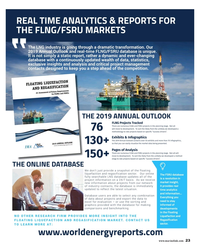 MR Jan-19#23 REAL TIME ANALYTICS & REPORTS FOR  THE FLNG/FSRU MARKETS