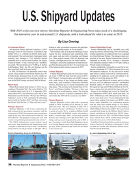 MR Jan-19#36 U.S. Shipyard Updates With 2018 in the rearview mirror
