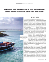 MR Jan-19#43 MARITIME EMISSIONS • Technology Choices & Cost Consideration