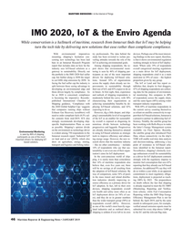 MR Jan-19#46 MARITIME EMISSIONS • & the Internet of Things IMO 2020