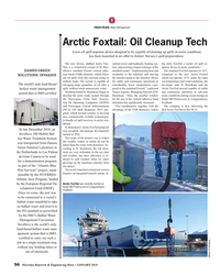 MR Jan-19#56 T TECH FILES: Water Management Arctic Foxtail: Oil Cleanup