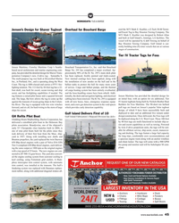 MR Feb-19#45 W WORKBOATS: TUG & BARGE ered the M/V Mark E. Kuebler