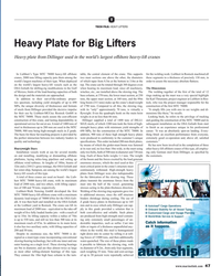 MR Feb-19#47 T TECH FILE: HEAVY LIFTERS Heavy Plate for Big Lifters Heavy
