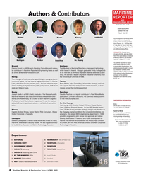 MR Apr-19#4 MARITIME Authors & Contributors REPORTER AND ENGINEERING