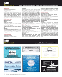 MR Apr-19#60  be found posted now on www.MaritimeJobs.com Description: