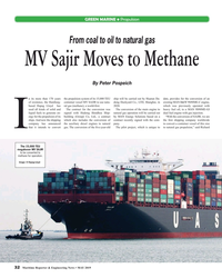 MR May-19#32  Sajir Moves to Methane By Peter Pospeich n its more than