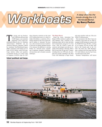 MR May-19#52 WORKBOATS: INSIDE THE U.S. WORKBOAT MARKET A deep dive