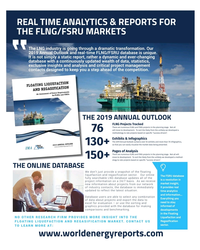 MR May-19#87 REAL TIME ANALYTICS & REPORTS FOR  THE FLNG/FSRU MARKETS