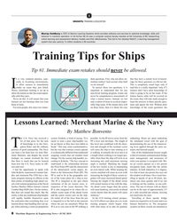 MR Jun-19#8  in 80 countries. Training Tips for Ships Tip #1. Immediate