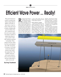 MR Jun-19#20 T TECH: RENEWABLE ENERGY Ef? cient Wave Power ... Really! en