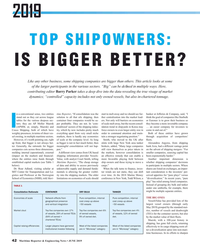 MR Jun-19#42 2019 TOP SHIPOWNERS:  IS BIGGER BETTER? Like any other