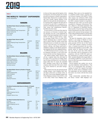 MR Jun-19#44 2019 its focus on liner cargo and the logistics of de-