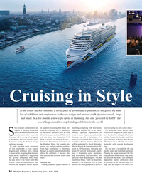 MR Jul-19#34 Cruising in Style Photo: AIDA As the cruise market continues