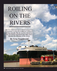 MR Jul-19#36 ROILING  ON THE  RIVERS The U.S. waterways are a critical