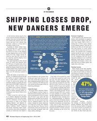 MR Jul-19#42 N BY THE NUMBERS SHIPPING LOSSES DROP,  NEW DANGERS