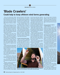 MR Jul-19#48 T TECH FILES ROBOTICS & DRONES 'Blade Crawlers' Could help