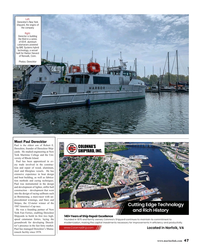 MR Aug-19#47 Left:  Derecktor's New York  shipyard, the origins of  the