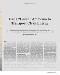 "MR Sep-19#31 MARINE FUEL: ""GREEN AMMONIA"" Using ""Green"" Ammonia to"