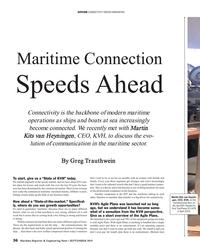 MR Sep-19#36 SATCOM CONNECTIVITY DRIVES INNOVATION Maritime Connection Sp