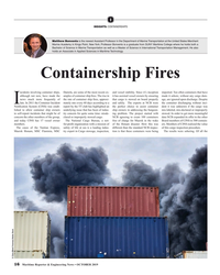 MR Oct-19#16 I INSIGHTS: CONTAINERSHIPS Matthew Bonvento is the newest