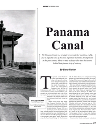 MR Oct-19#27 HISTORY THE PANAMA CANAL Panama Canal The Panama Canal is