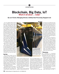 MR Oct-19#66 S SOFTWARE SOLUTIONS Blockchain, Big Data, IoT What's it