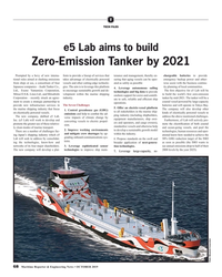 MR Oct-19#68 T TECH FILES e5 Lab aims to build   Zero-Emission Tanker