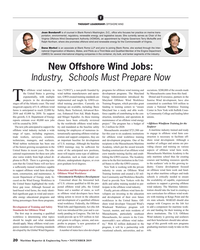 MR Nov-19#20 T THOUGHT LEADERSHIP: OFFSHORE WIND Joan Bondareff is of