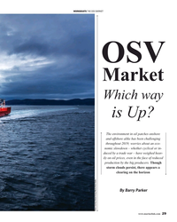 MR Nov-19#29 WORKBOATS THE OSV MARKET OSV  Market  Which way    is