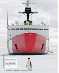 MR Nov-19#44 SHIPBUILDING USCG POLAR SECURITY CUTTER An emperor penguin