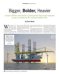 MR Nov-19#58  FLEET Bigger, Bolder, Heavier Europe's offshore wind market
