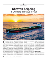 MR Nov-19#70  Shipping  & Unlocking the Value of Flag Photo: Chevron hoosing