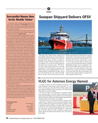 MR Nov-19#78 V VESSELS  Sovcom?  ot Names New  Seaspan Shipyard Delivers