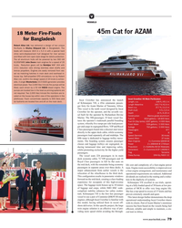 MR Nov-19#79 .7 ft/42.9 m ger ferry for Azam Marine of Tanzania, Africa.  Beam